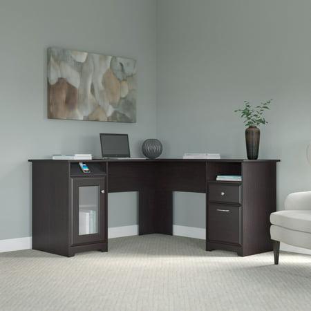 Bush Furniture Cabot L Shaped Desk In Espresso Oak 2 Of