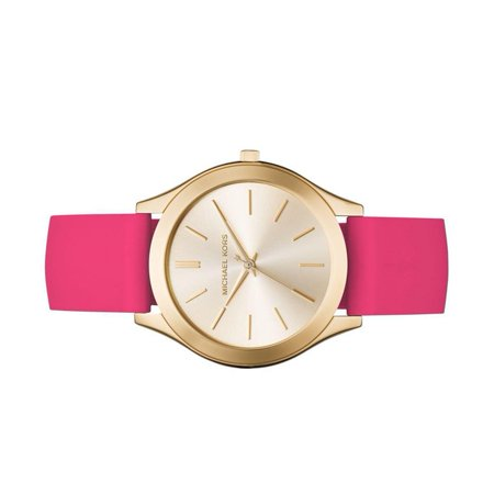 c1470dac1b60 Michael Kors - Women s Slim Runway Sporty Pink Silicone Strap Watch MK2510  - Walmart.com