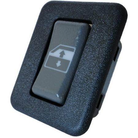 GMC C3500 Rear Passenger Power Window Switch 1995-2001 (Blue Bezel) (1995 1996 1997 1998 1999 2000 2001) (electric control panel lock button auto driver passenger door)