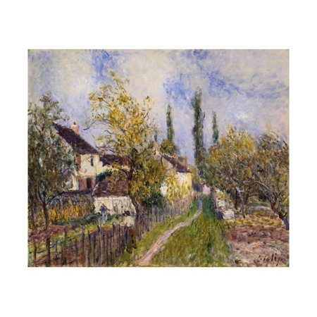Painting of the French Countryside by Alfred Sisley Print Wall Art By Geoffrey Clements