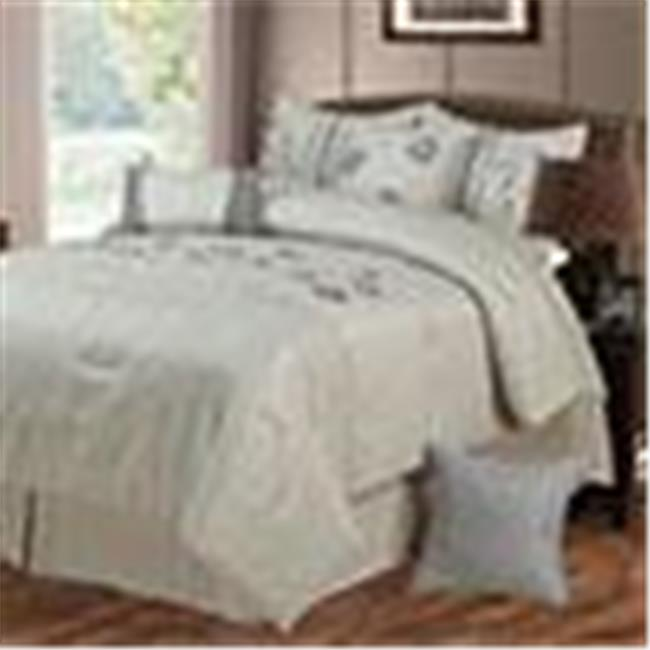 Lavish Home Daniela 7 Piece Embroidered Comforter Set - King