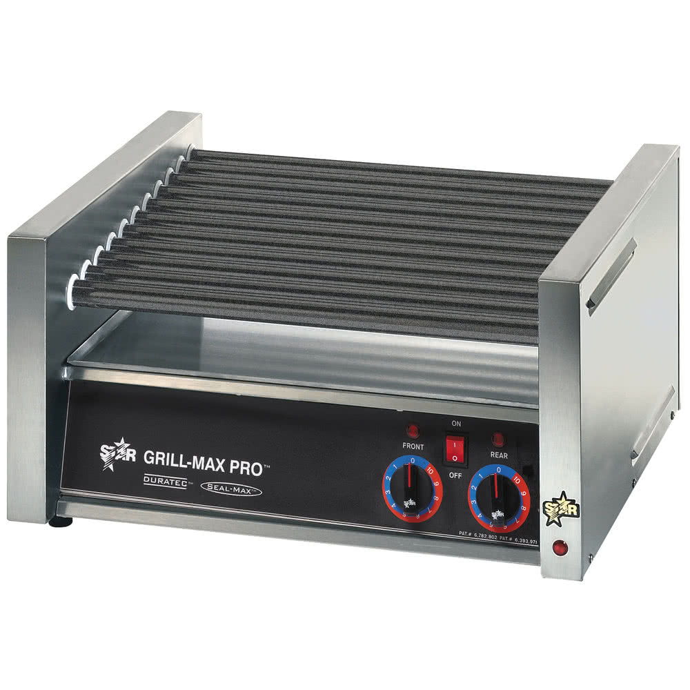 TableTop king Grill-Max Pro 50ST 50 Hot Dog Roller Grill with Analog Controls and StalTek Non-Stick Rollers 120 V