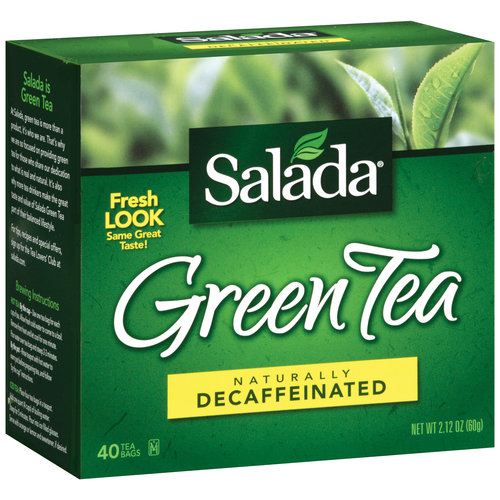 Salada Naturally Decaffeinated Green Tea Bags, 40 count, 2.12 count