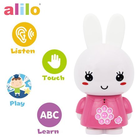alilo Honey Bunny Story Teller Nursery Rhyme Lullaby Song Bedtime Story Fairy-tale Interactive Children Brain Kid Early Development Learning Toy Training Bluetooth English Chinese Bilingual G6X - Pink