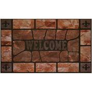"Achim Raised Rubber Clay Stone Doormat, 18"" x 30"""