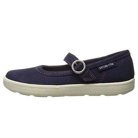 Stride Rite Simone Mary Jane Shoe (Little Kid) Navy 11 W