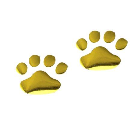 Unique Bear Paw Pet Animal Foot Prints Emblem Car Truck Decorative 3D Stickers Decal Car Sticker