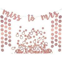 200 Paris Party Confetti Bachelorette Wedding Confetti Baby Shower Bridal Shower Confetti Paris Party Black Gold