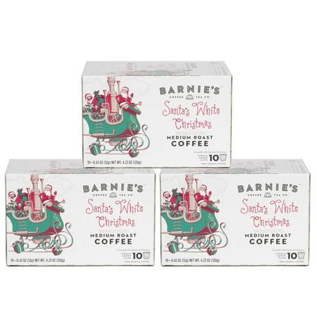 Barnie's Coffee & Tea, Santa's White Christmas, Single Serve K-Cup Pods, 30 Count