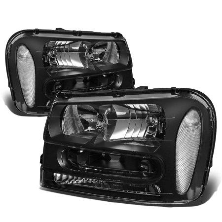 For 2002 to 2009 Chevy Trailblazer EXT Headlight Black Housing Clear Corner Headlamps 03 04 05 06 07 08 Left+Right Chevy Trailblazer Ext Lt