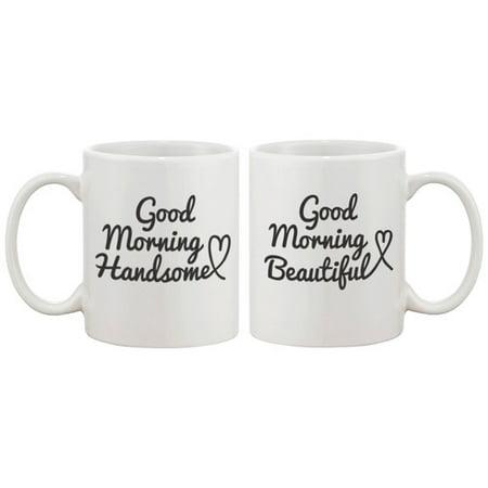 Good Holidays For Couples (365 Printing Inc 2 Piece Good Morning Handsome and Beautiful Couple Matching 11 oz. Mug)