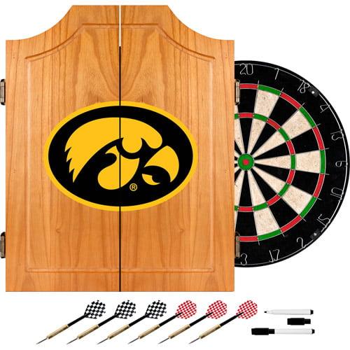 University of Iowa Dart Cabinet - !ncludes Darts and Board