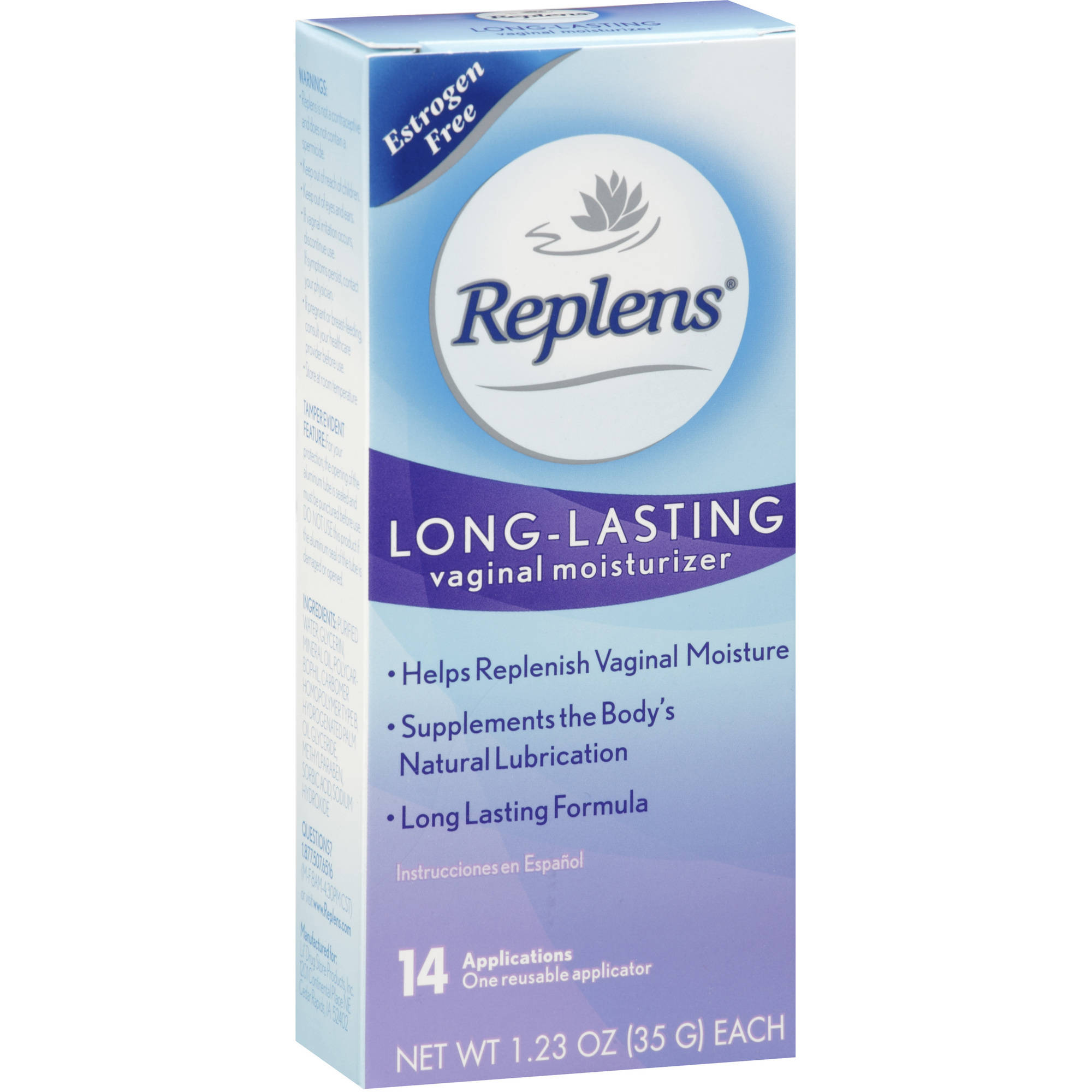 Replens Long Lasting Vaginal Moisturizer, 14ct
