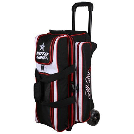 Roto Grip 3 Ball Roller Bowling Bag- All Star Edition Black/White/Red