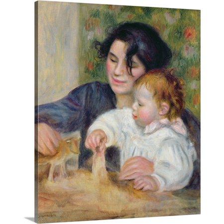 Canvas Jean (Great BIG Canvas | Pierre Auguste (1841-1919) Renoir Premium Thick-Wrap Canvas entitled Gabrielle and Jean, c.1895 6 )