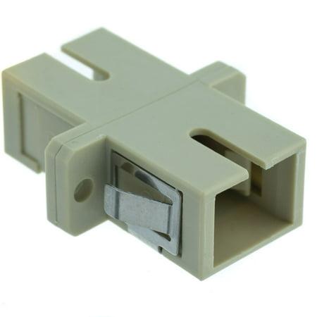 - Offex Fiber Optic Coupler, SC/SC Female, Simplex, Plastic Housing