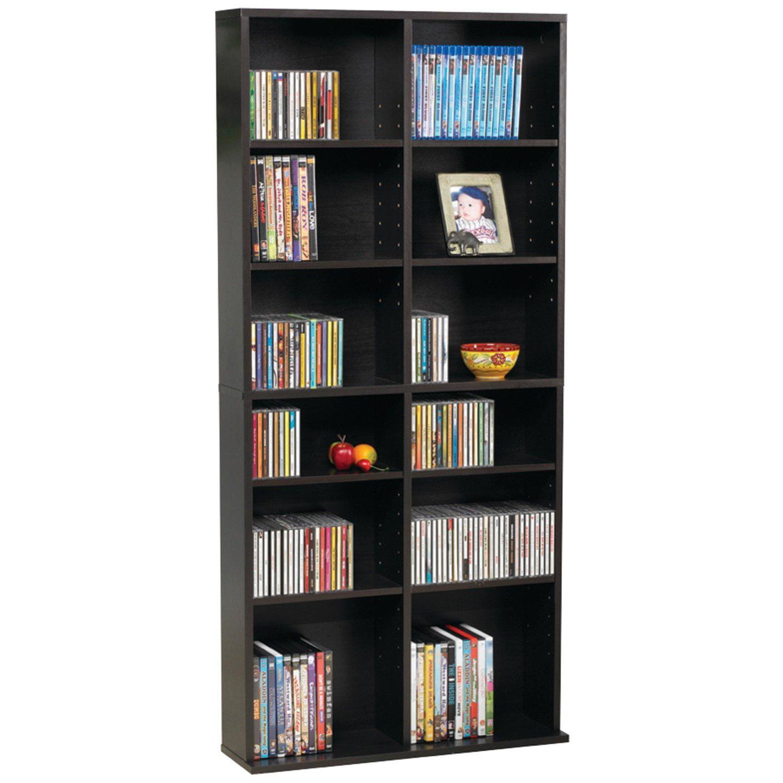 38435719 Oskar Media Cabinet for 464 CD or 228 DVD, Espresso, Multimedia storage for 276 Blu-rays, 228 DVDs or 464 CDs;... by