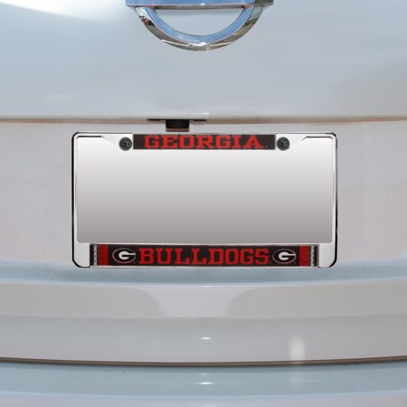 Georgia Bulldogs Jersey Small Over Large Metal Acrylic Cut License Plate Frame Georgia Bulldogs Metal