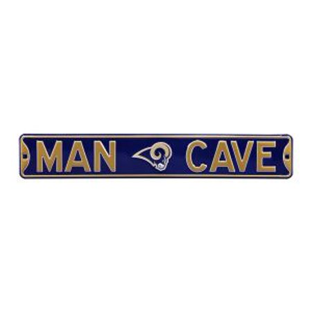 Authentic Street Signs 35097 Plaque de rue de Los Angeles Rams Man Cave - image 1 de 1