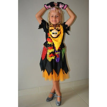 LAMINATED POSTER Carnival People Girl Child Dress Up Poster Print 24 x 36 - Cool People To Dress Up As