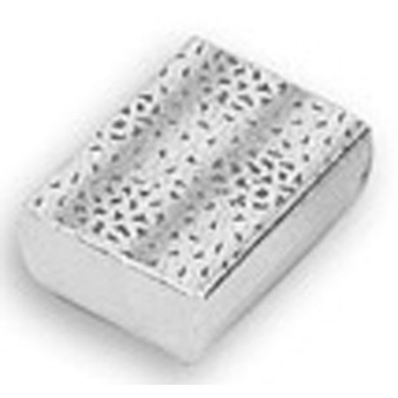 """JSP  Cotton Filled Jewelry Gift Box Lot of 12 Silver Foil (3 1/4"""" X 2 1/4"""" X 1"""")"""