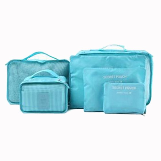 McMola - 6Pcs Waterproof Travel Storage Bags Packing Cube Clothes ... 170d93ff37e03