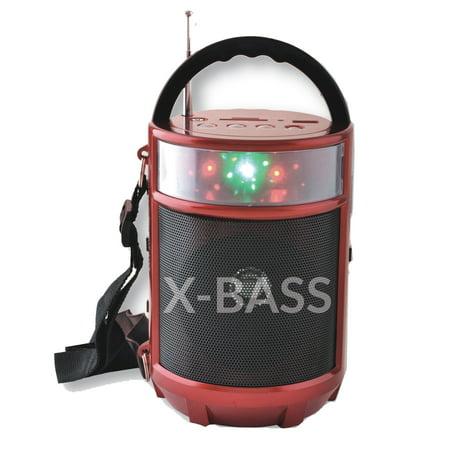 Supersonic Portable Bluetooth FM Radio In Red (Best Dab Digital Radio)