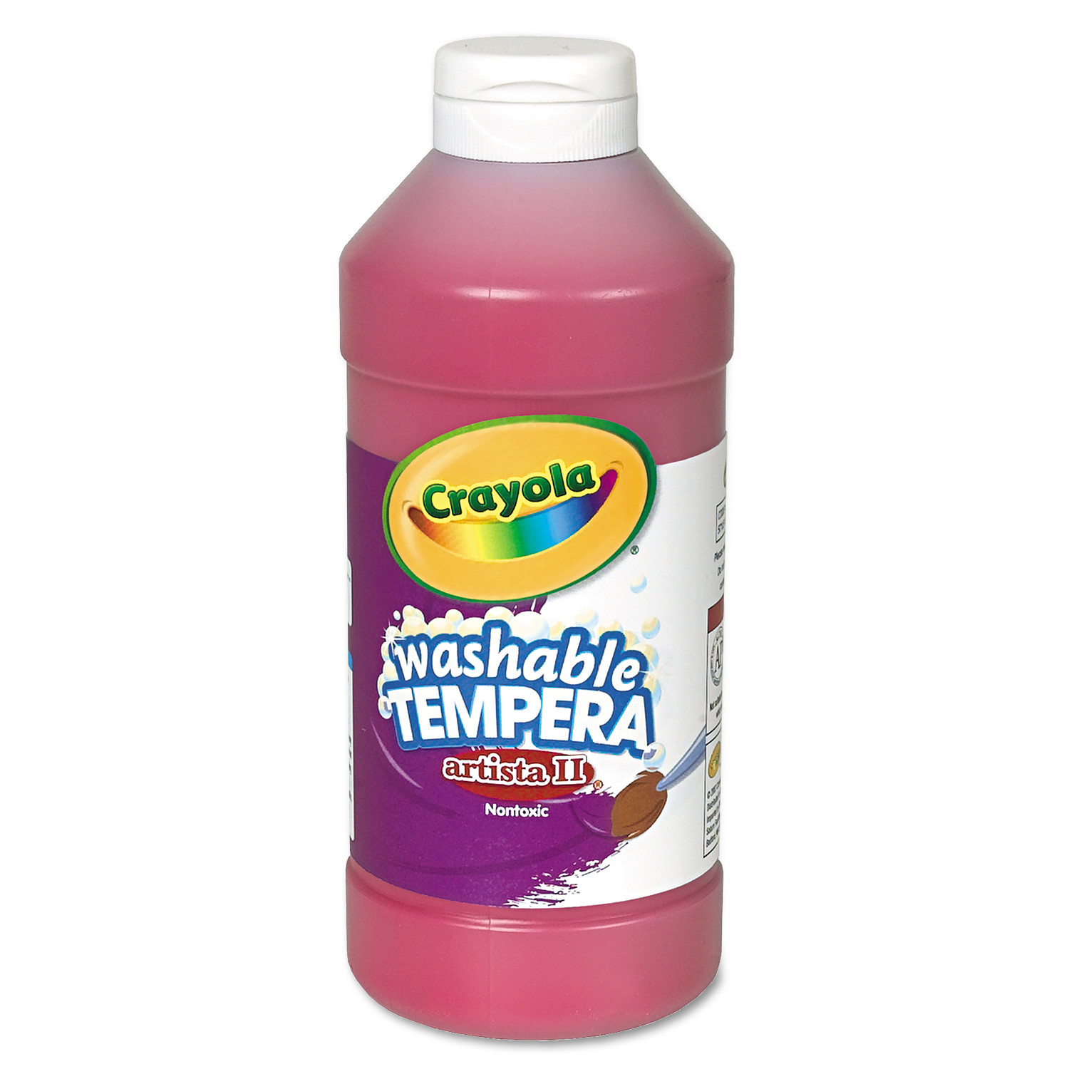 Crayola Artista II Non-Toxic Washable Tempera Paint, 1 pt Squeeze Bottle, Blue