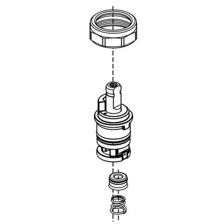 Delta Talbott: Stem Unit Assembly, Seat & Spring, Bonnet Nut & Washer