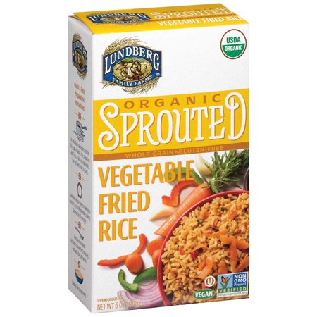 Lundberg Family Farms Organic Sprouted Rice; Vegetable Fried - (Case of 6 - 6 (Best Rice For Fried Rice)
