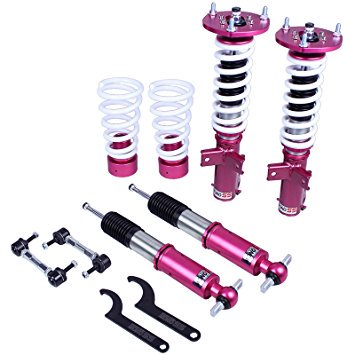 Godspeed ( MSS1091 ) FORD MUSTANG 2015 2016 UP ~ MONOSS COILOVER SUSPENSION KIT W/ Front Camber Plate Full adjustable 16 way Suspension Kit Monotube shock design