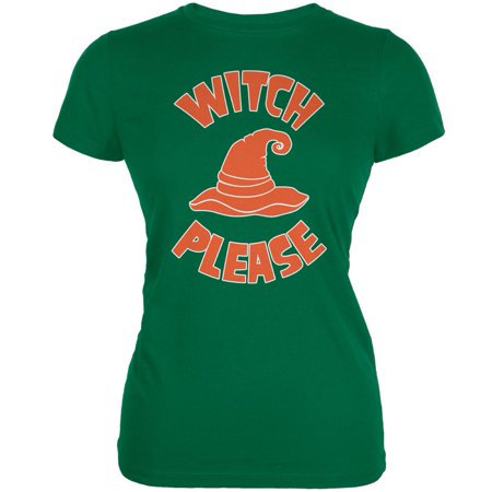Halloween Witch Please Kelly Green Juniors Soft T-Shirt - Kelly Karloff Halloween