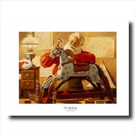 Old St Nick Santa Clause Christmas #6 Wall Picture Art Print ()