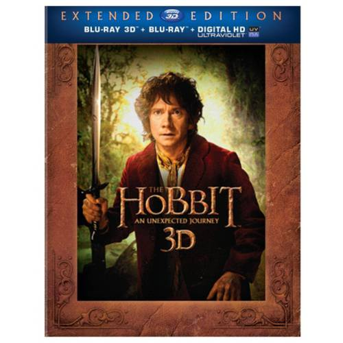 The Hobbit: An Unexpected Journey (Extended Edition) (3D Blu-ray + Blu-ray + Digital UltraViolet) (With INSTAWATCH) (Widescreen)