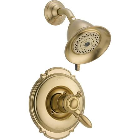 Delta Victorian Monitor 17 Series Shower Trim, Champagne (Delta Victorian Monitor 18 Series Jetted Shower)