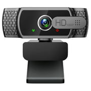 Webcam with Microphone, 1080P FHD Webcam with Privacy Cover, Plug and Play USB Web Camera for Desktop & Laptop Conference, Meeting, Zoom, Skype, Facetime, Windows, Linux, and macOS
