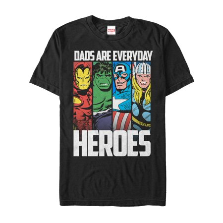 Marvel Father's Day Avengers Everyday Heroes Mens Graphic T Shirt - Father's Day Stuff
