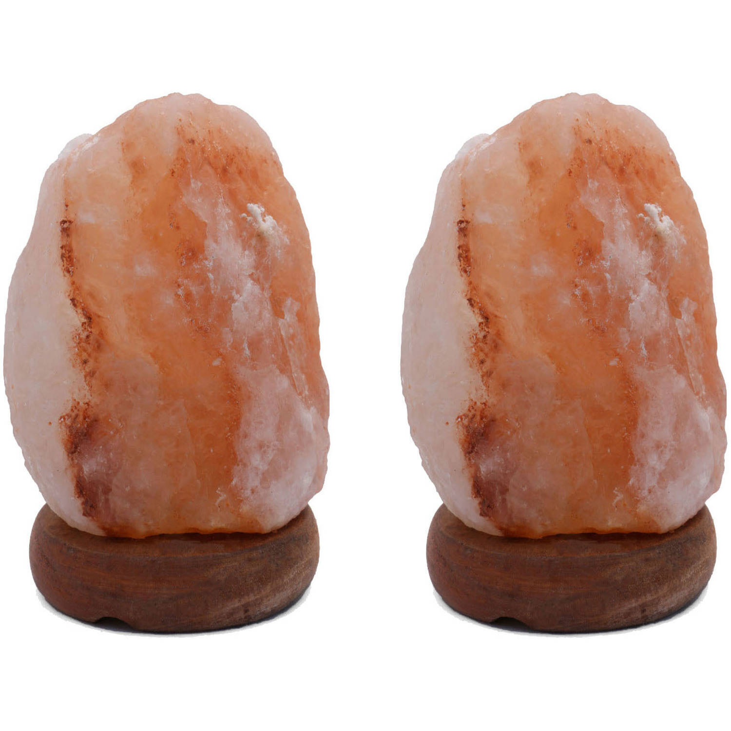 "Accentuations by Manhattan Comfort 8"" Natural Shaped Himalayan Salt Lamp 1.8, Set of 2 with Dimmer"