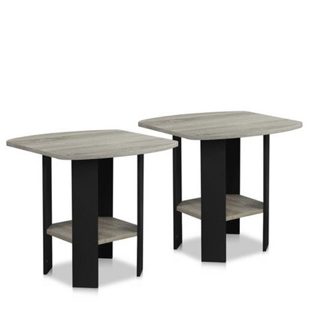 Simple Design End Table, Yellow - 19.6 x 20 x 20 in. - Set of 2