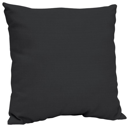Better Homes & Gardens Black 21 X 21 In. Outdoor Dining Pillow Back Cushion W Enviro Guard by Better Homes & Gardens