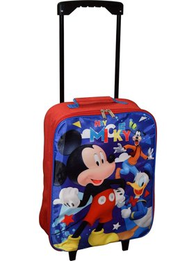 """Disney Junior Mickey And The Roadster Racers 15"""" Collapsible Wheeled Pilot Case - Rolling Luggage"""