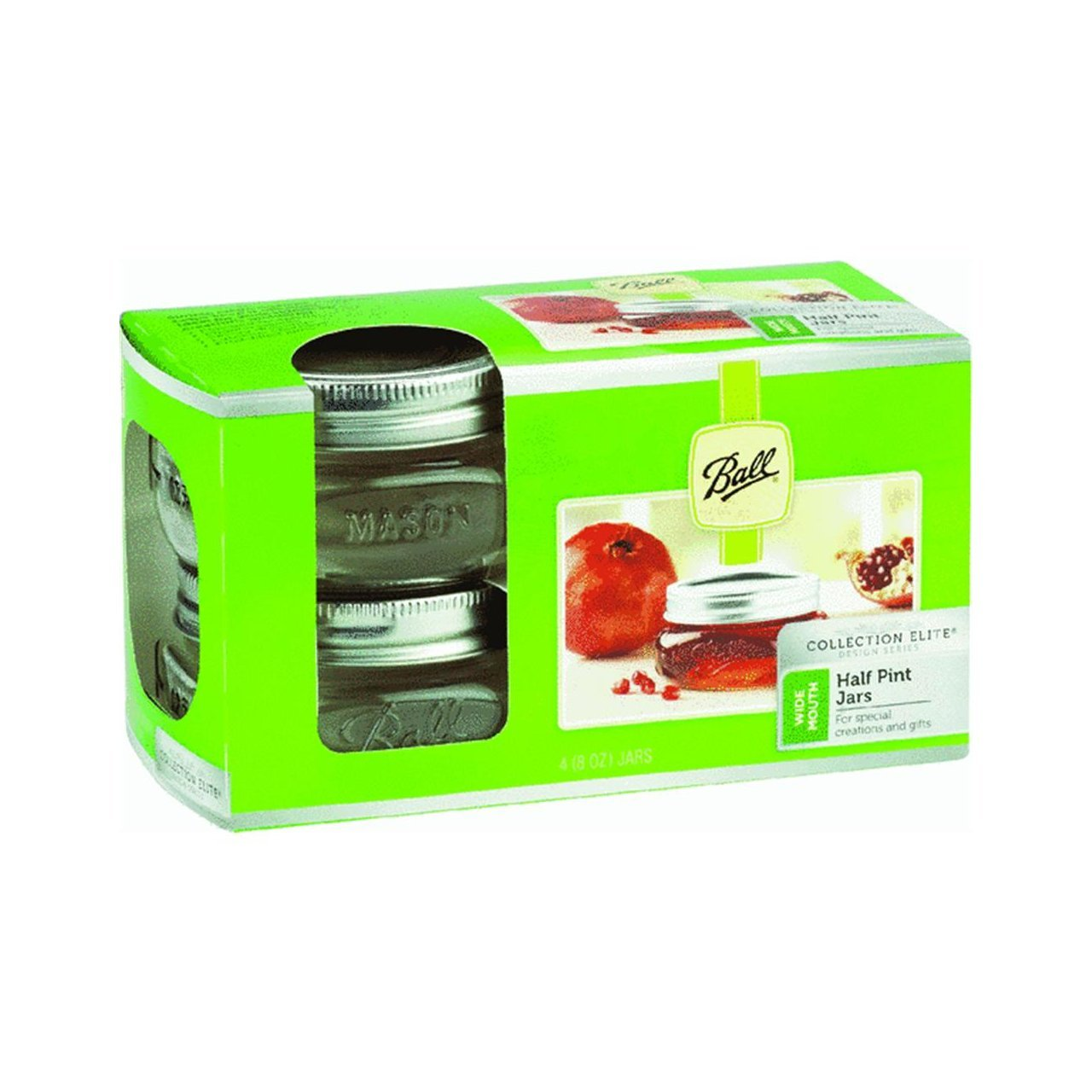 61162 Wide Mouth Canning Jar, 4-Pack, Great in the kitchen for canning and storing foods, they are also great... by
