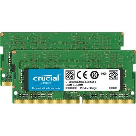 Crucial 32GB (2x16GB) DDR4 2666MHz SDRAM 260pin Non-ECC SoDIMM Memory (Non Ecc Sdram)