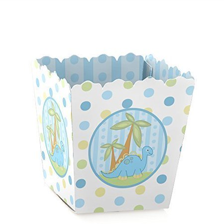 Baby Boy Dinosaur - Party Mini Favor Boxes - Baby Shower or 1st Birthday Party Treat Candy Boxes - Set of 12