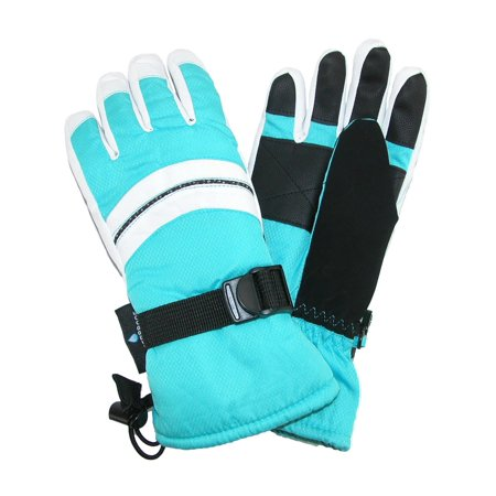 Grand Sierra Girl's 4-6 Waterproof Snowboard Glove with Glitter Piping