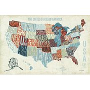 USA Modern Blue by Michael Mullan Map of United States 36x24 Art Print Poster