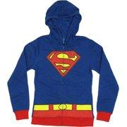 DC Comics: Supergirl Logo Juniors Blue Medium (M) Hoodie by Bioworld