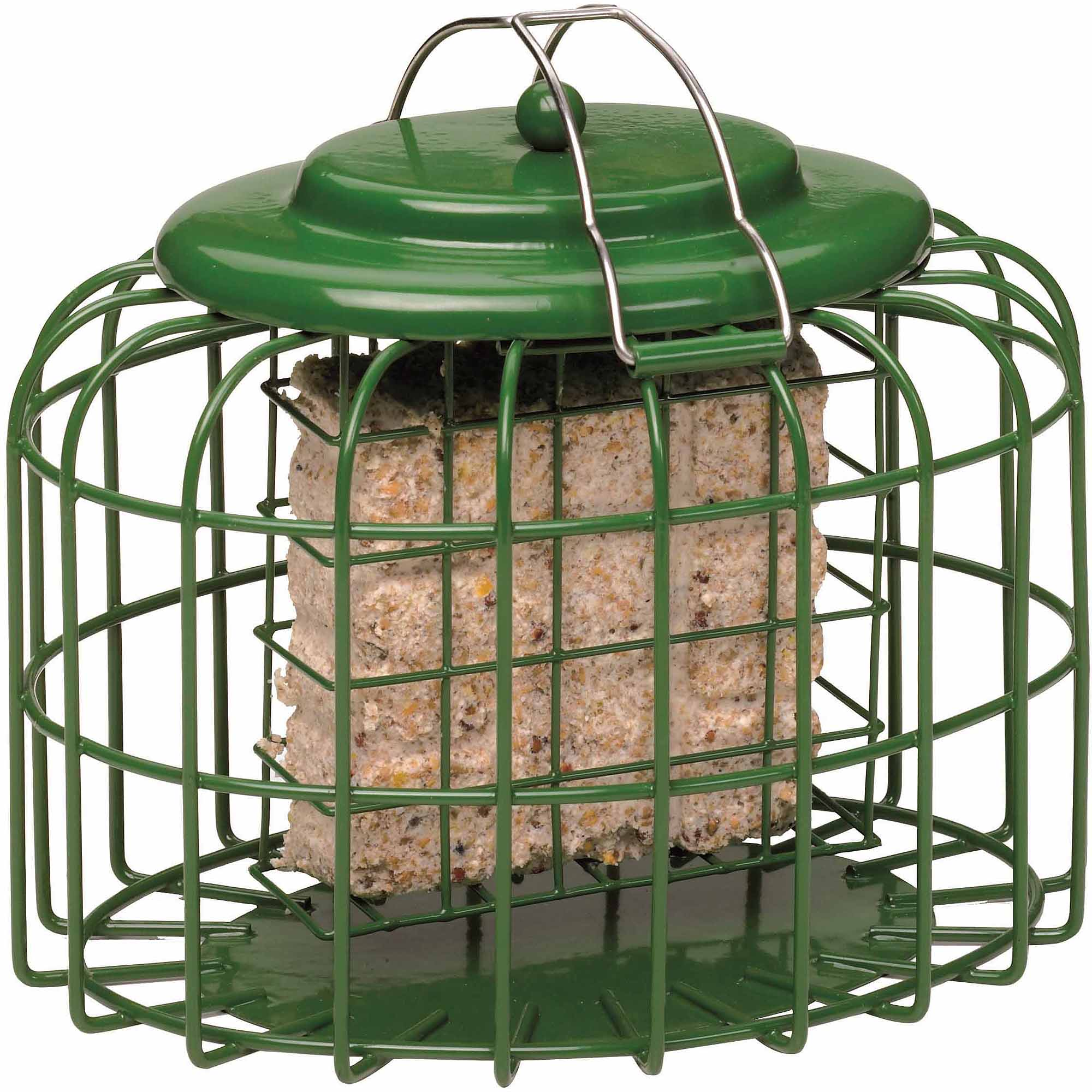 The Nuttery Oval Suet-Cake Squirrel Resistant Bird Feeder, Ocean Green
