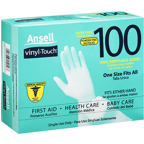 Ansell Vinyl Touch Gloves, 100ct