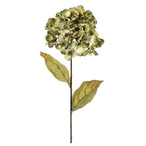 "Club Pack of 12 Artificial Avocado Green Hydrangea Silk Flower Sprays 26"""